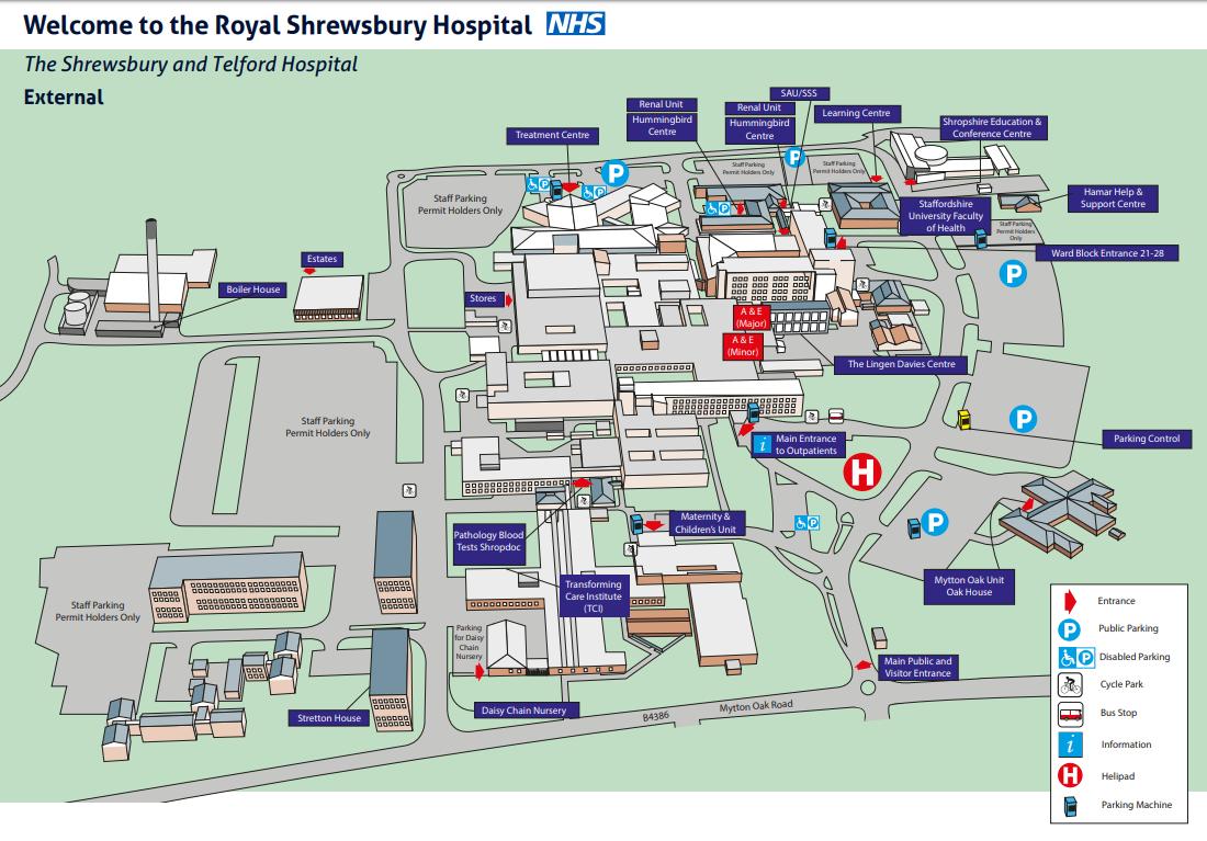 Royal Shrewsbury Hospital Map Onboading